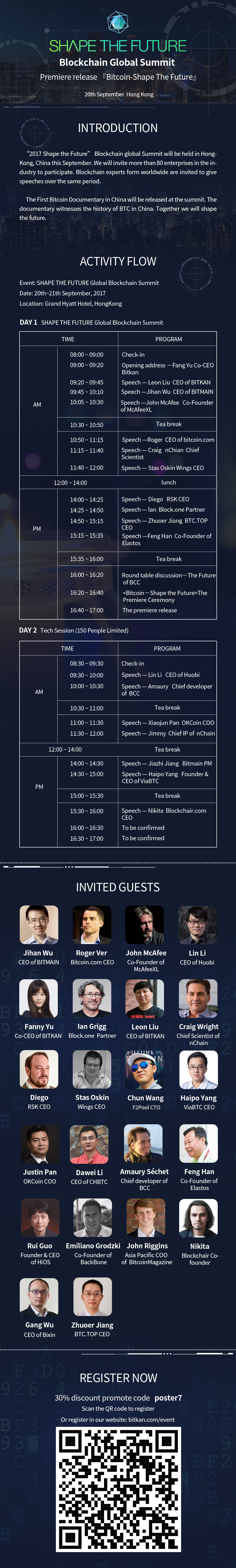 Bitkan Blockchain Summit Program
